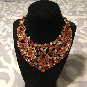 Jewelry - Butterfly Rhinestone Necklace and Earrings ❤️🧡💛